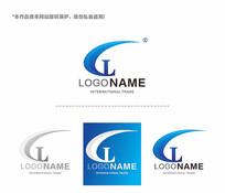蓝色简约字母电子电器logo