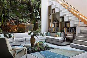 绿意盎然的客厅