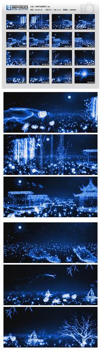 梦幻粒子光效荷塘月色视频素材