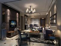 现代欧式风格客厅 设计