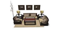 新中式软装沙发