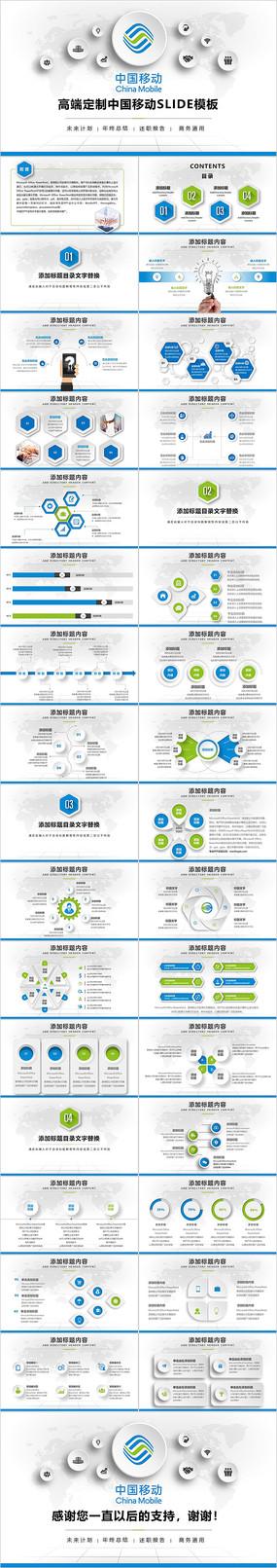 中国移动通信公司PPT模板