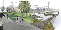 自然湿地公园方案效果图