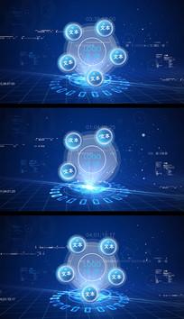 科技圆形组织架构分类AE视频模板