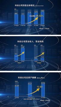 科技感数据图柱状图AE视频模板