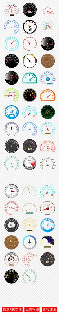 汽车里程表时速表PNG 素材