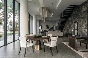 现代别墅住宅餐桌意向