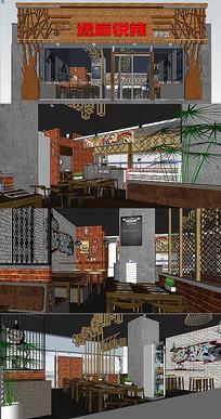 餐厅室内设计su模型