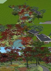 茶园景观su模型