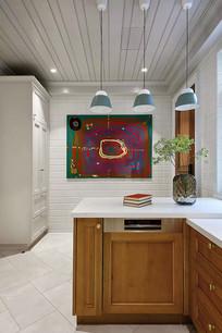 法式风格的厨房料理台