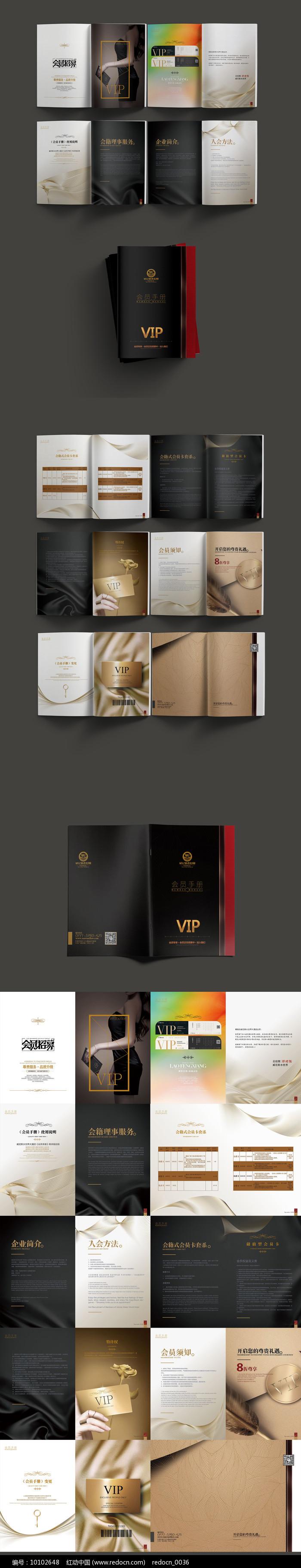 高端大气VIP手册设计图片