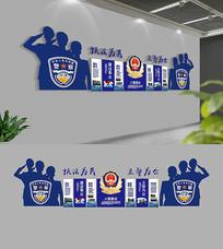 警营文化墙布置模板