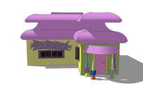 卡通建筑模型