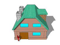 卡通两层住宅