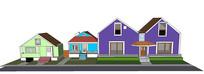 卡通联排住宅群