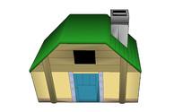 绿色卡通建筑