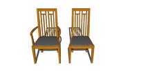 新中式高背座椅组合
