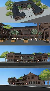 中式建筑su模型