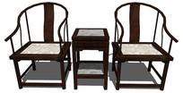 中式太师桌椅su模型