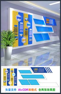 精美企业发展历程文化墙设计