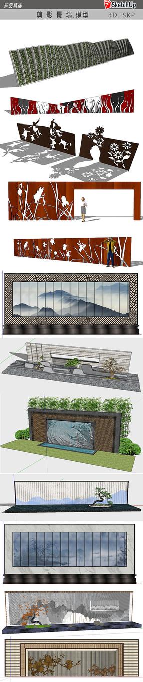 文化景墙模型