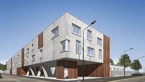 单体建筑设计su模型