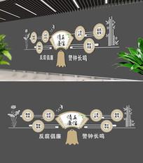 廉政文化建设背景墙