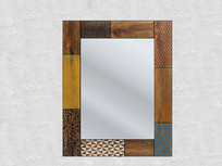 木质边框镜子
