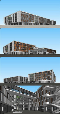 软件园建筑设计su模型