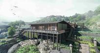 山地度假酒店建筑效果图 JPG