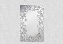 圆形图案镜子