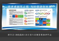蓝色大气企业文化宣传栏