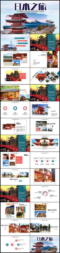 日本印象旅行介绍相册PPT