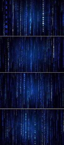 4k蓝色数字科技背景视频