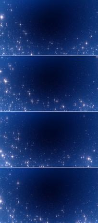4k蓝色星空背景视频