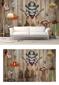 创意木板欧式背景墙