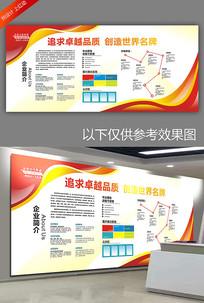 大气红色企业文化墙宣传栏