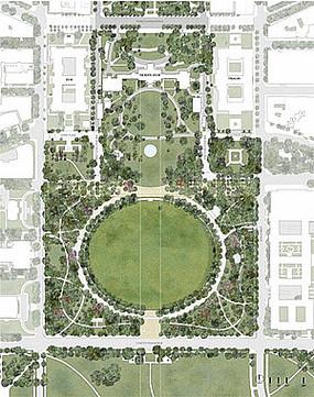 大型绿化植物景观公园