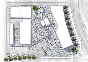 地面道路铺装分区景观平面图 JPG