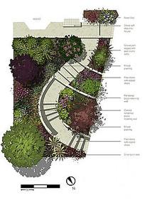 多样植物组合景观彩平
