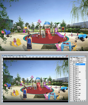 儿童乐园广场景观效果图