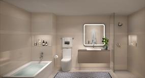 高档公寓洗手间效果图