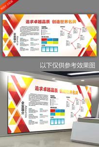 红色几何色块企业文化墙