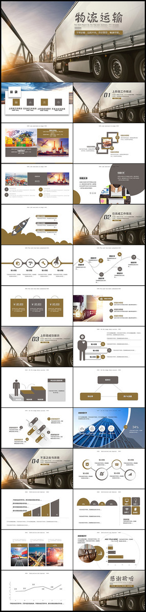 货运物流运输PPT模板