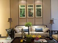 客厅家具背景墙装饰画