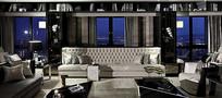 客厅欧式白色沙发