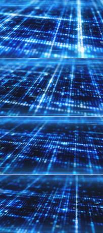 蓝色闪烁数字科技高清背景视频  mov