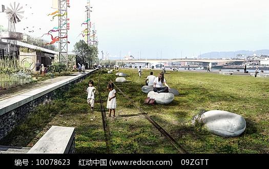 老火车轨道景观图片