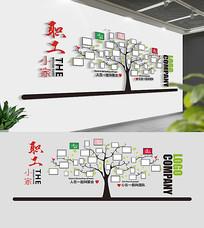 企业职工之家照片墙设计