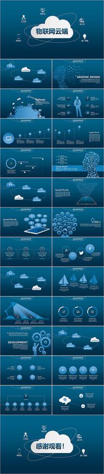 物联网云计算大数据PPT模板